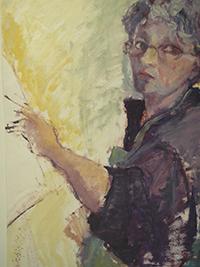 Annie Quesnel, autoportrait