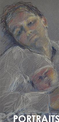 Portraits pastels